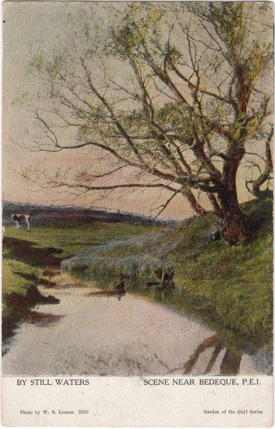 , By Still Waters Scene Near Bedeque, P.E.I. (0688), PEI Postcards
