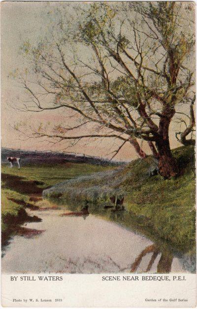 , By Still Waters Scene near Bedeque, P.E.I. (0695), PEI Postcards