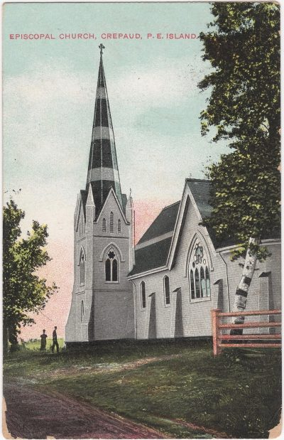 , Episcopal Church, Crepaud, P.E. Island {incorrect spelling} (0698), PEI Postcards