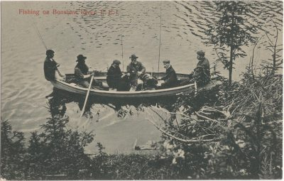 , Fishing on Bonshaw River, P.E.I. (0666), PEI Postcards