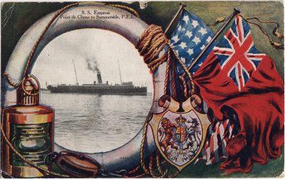 , S.S. Empress Point de Chene to Summerside, P.E.I. (0704), PEI Postcards