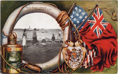 , Boston Steamer arriving at Charlottetown, P.E.I. (0709), PEI Postcards