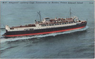 ", ""M.V. Abegweit"" carferry Cape Tormentine to Borden, Prince Edward Island (0708), PEI Postcards"