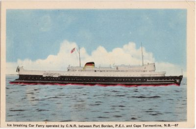 , Ice breaking Car Ferry operated by C.N.R. betwen Port Borden, P.E.I. and Cape Tormentine, N.B. (0715), PEI Postcards
