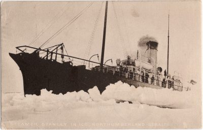 , Steamer Stanley in Ice, Northumberland Straits (0712), PEI Postcards