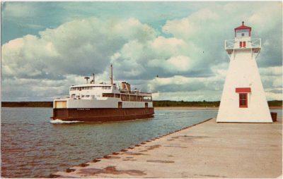 , M.V. Prince Nova Ferry service beteen Wood Island, Prince Edward Island, and Caribou, Nova Scotia… (0716), PEI Postcards