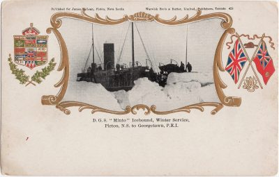 ", D.G.S. ""Minto"" Icebound, Winter service, Pictou, N.S. to Georgetown, P.E.I. (0718), PEI Postcards"