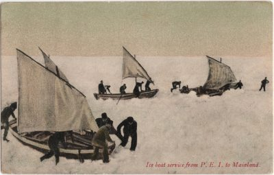 , Ice boat service from P.E.I. to Mainland. (0719), PEI Postcards