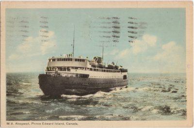 , M.V. Abegweit, Prince Edward Island, Canada. (0723), PEI Postcards