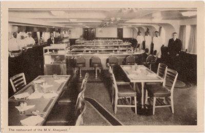 , The restaurant of the M.V. Abegweit. (0737), PEI Postcards
