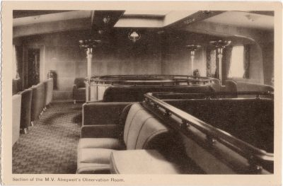, Section of the M.V. Abegweit's Observation Room. (0739), PEI Postcards