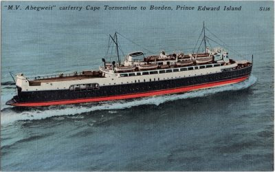 ", ""M.V. Abegweit"" carferry Cape Tormentine to Borden, Prince Edward Island (0738), PEI Postcards"