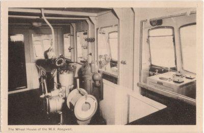 , The Wheel House of the M.V. Abegweit (0732), PEI Postcards