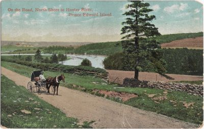 , On the Road, North Shore to Hunter River, Prince Edward Island (0746), PEI Postcards