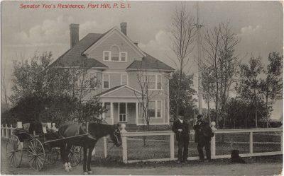 , Senator Yeo's Residence, Port Hill, P.E.I. (0749), PEI Postcards