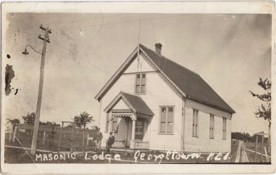 , Masonic Lodge, Georgetown, P.E.I. (0742), PEI Postcards