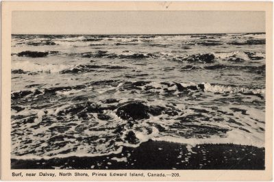 , Surf, near Dalvay, North Shore, Prince Edward Island, Canada (0759), PEI Postcards