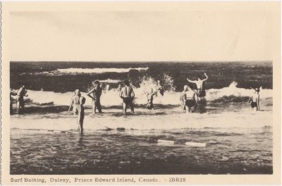 , Surf Bathing, Dalvay, Prince Edward Island, Canada. (0760), PEI Postcards