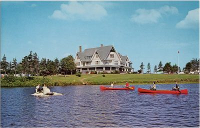 , Summer Fun at the beautiful Dalvay Hotel, Dalvay, in the lovely National Park Region of Prince     Edward Island. (0769), PEI Postcards