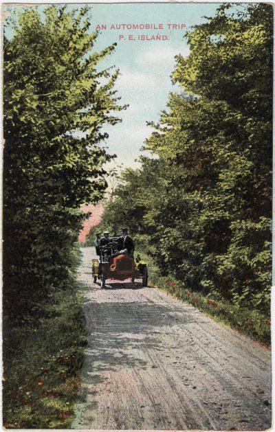 , An Automobile Trip. P.E. Island (0820), PEI Postcards