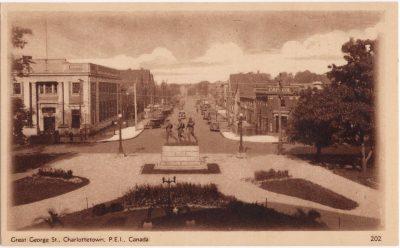 , Great George St., Charlottetown, P.E.I. Canada. (0825), PEI Postcards
