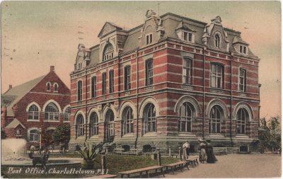 , Post Office, Charlottetown, P.E.I. (0827), PEI Postcards