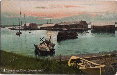 ", ""A Shore Scene."" Prince Edward Island. (0831), PEI Postcards"