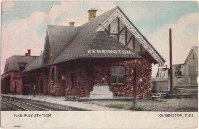 , Railway Station, Kensington, P.E.I. (0833), PEI Postcards