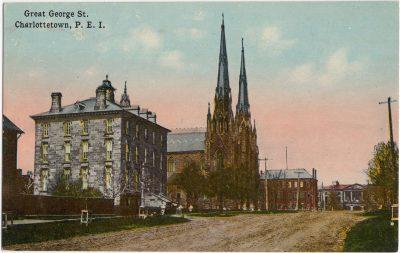 , Great George St. Charlottetown, P.E.I. (0835), PEI Postcards