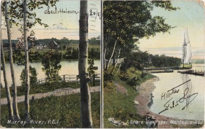 , Murray River, P.E.I. / A shore View near Montague, P.E.I. (0844), PEI Postcards
