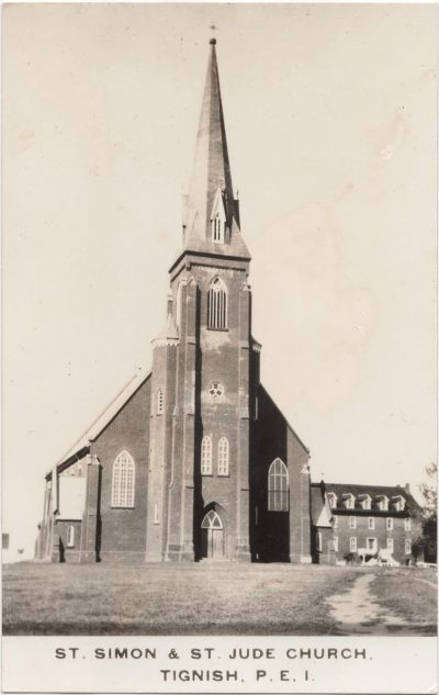 , St. Simon & St. Jude Church, Tignish, P.E.I. (0845), PEI Postcards