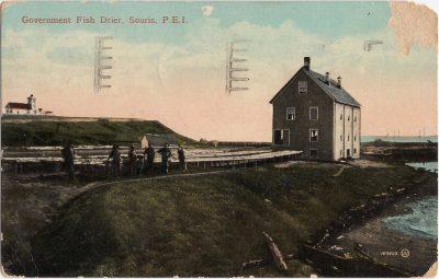 , Government Fish Drier, Souris, P.E.I. (0847), PEI Postcards
