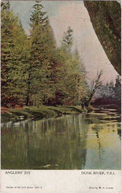 , Angler's Joy Dunk River, P.E.I. (0849), PEI Postcards