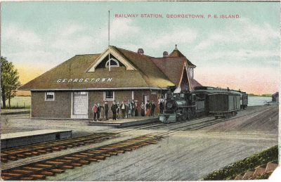 , Railway Station, Georgetown, P.E. Island (0853), PEI Postcards
