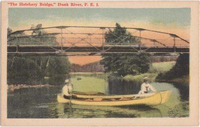 ", ""The Hatchery Bridge,"" Dunk River, P.E.I. (0857), PEI Postcards"