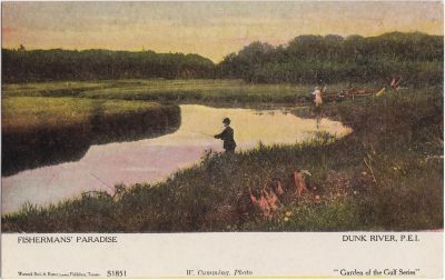 , Fishermans' Paradise. Dunk River, P.E.I. (0858), PEI Postcards