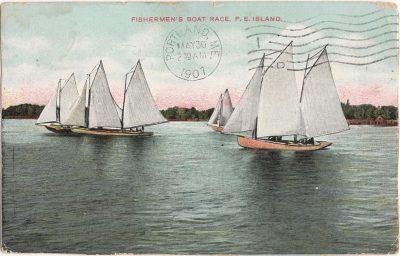 , Fishermen's Boat Race, P.E. Island (0785), PEI Postcards