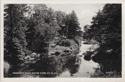 , Thompson's Mills, Winter River, P.E. Island. (0797), PEI Postcards