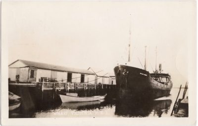 , Wharf, Victoria, P.E.I. {M.V. Pictou County} (0801), PEI Postcards