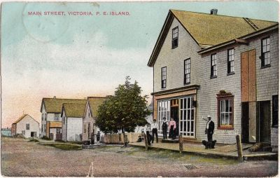 , Main Street, Victoria, P.E. Island. (0802), PEI Postcards