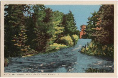 , An Old Mill Stream, Prince Edward Island, Canada. {Thompson's Mills} (0803), PEI Postcards