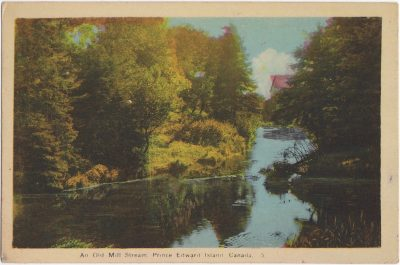 , An Old Mill Stream, Prince Edward Island, Canada.  {Thompson's Mills} (0796), PEI Postcards