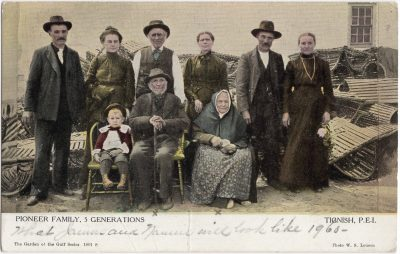 , Pioneer Family, 5 Generations Tignish P.E.I. (0805), PEI Postcards