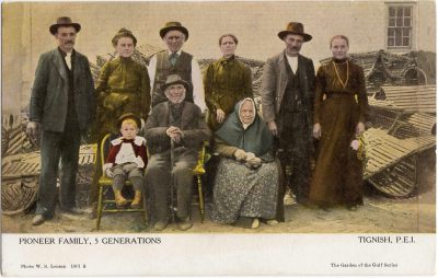 , Pioneer Family, 5 Generations Tignish P.E.I. (0806), PEI Postcards