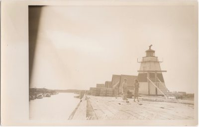 , Range Light, Big Tignish, P.E.I. (0815), PEI Postcards