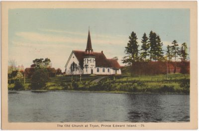 , The Old Church at Tryon, Prince Edward Island. (0810), PEI Postcards