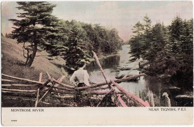 , Montrose River Near Tignish, P.E.I. (0811), PEI Postcards