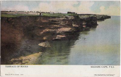 , Terrace of Rocks, Kildare Cape, P.E.I. (0875), PEI Postcards