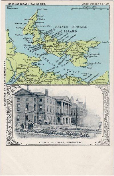 , Colonial Buildings, Charlottetown (0881), PEI Postcards