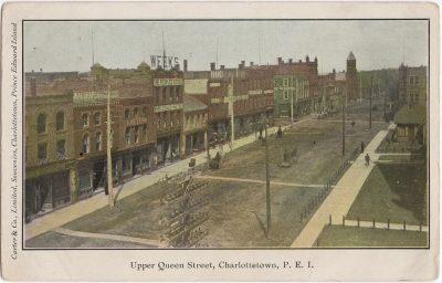 , Upper Queen Street, Charlottetown, P.E.I. (0886), PEI Postcards